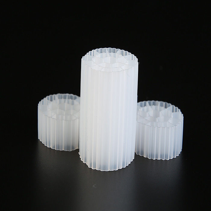 Virgin HDPE Material MBBR Plastic Filter Media White Color For Wastewater Treatment
